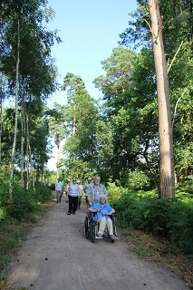 Visitors try out the new trail