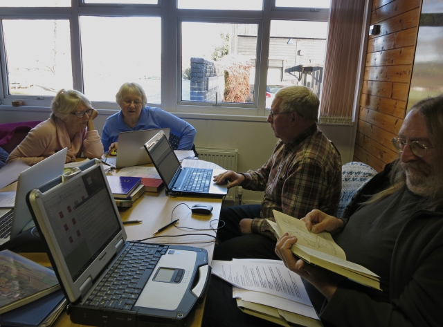 Volunteers Researching For Wildlife Records