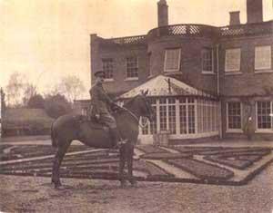 Major Kenny at Downhall Hall