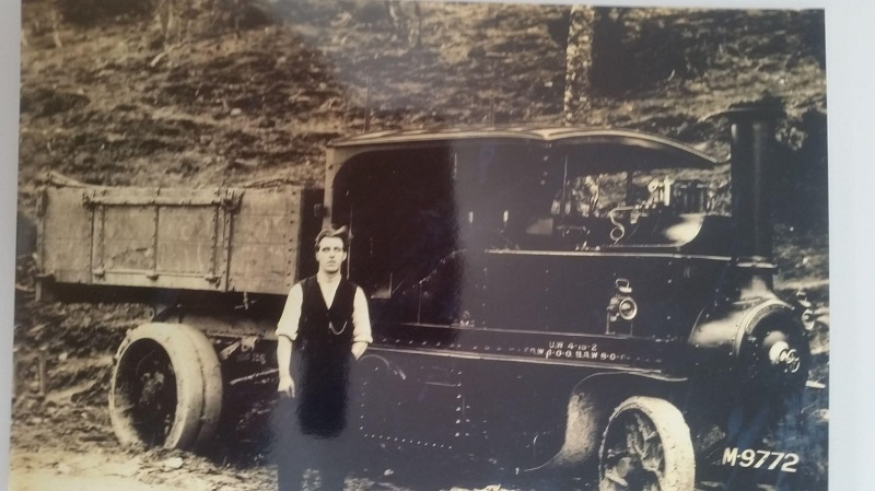>William Lenny with a Foden steam driven lorry