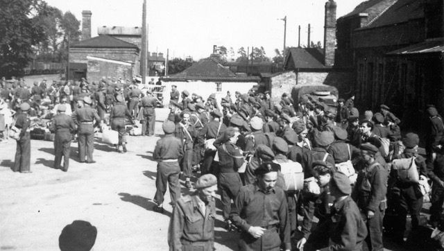 The Polish 2nd corps arrive at Brandon Station in 1946
