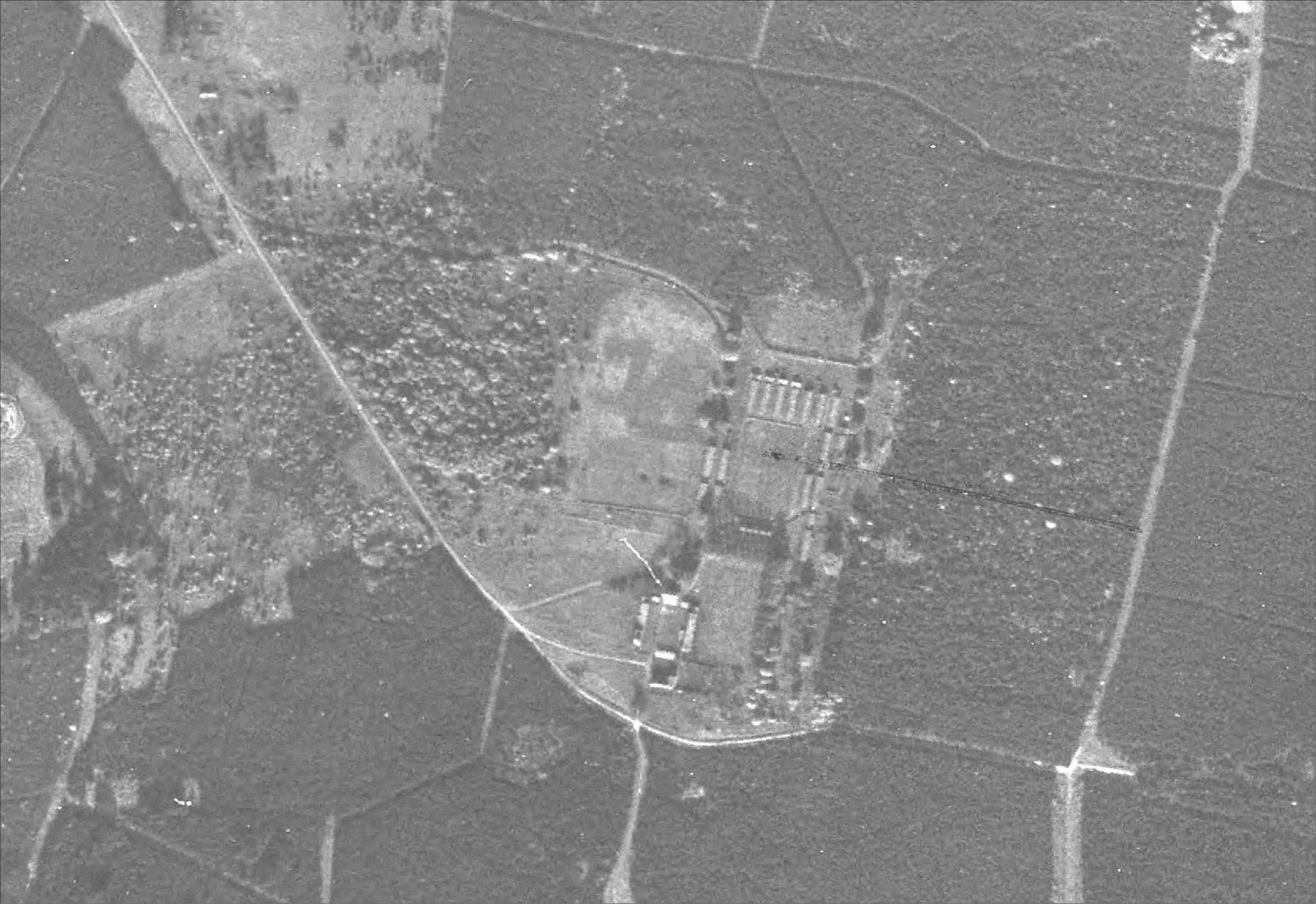 Aerial view of High Lodge (1945)