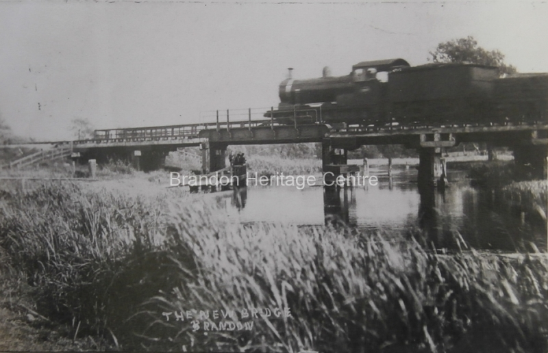 Steam Train crossing the Little Ouse River